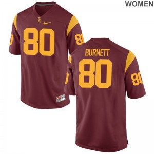 White Deontay Burnett Jerseys S-2XL USC Trojans Game Ladies