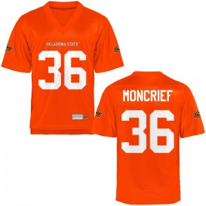 Derrick Moncrief OK State Jerseys S-XL Orange Youth Game