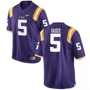 LSU High School Derrius Guice Limited Jerseys Purple Men