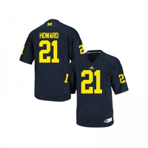 Michigan Desmond Howard High School Jersey Navy Blue Youth Game