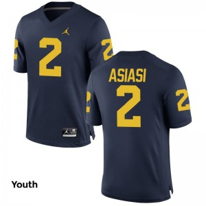 Wolverines Limited Devin Asiasi Youth Jordan Navy Jersey