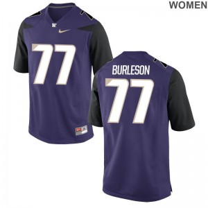 Ladies Devin Burleson Jerseys University of Washington Game Purple