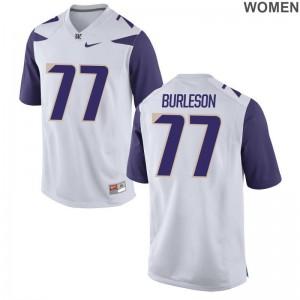 Washington Devin Burleson NCAA Jerseys White Women Limited