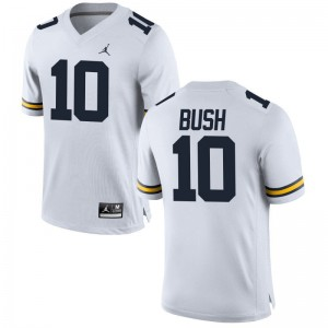 Devin Bush University of Michigan Jerseys Limited Jordan White Mens Jerseys