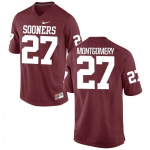 OU Sooners Devin Montgomery Jersey S-3XL Limited Crimson For Men