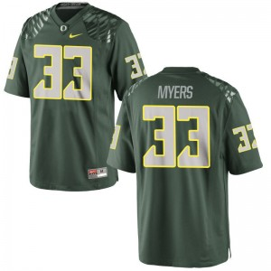 Oregon Player Jersey of Dexter Myers Game Mens - Green