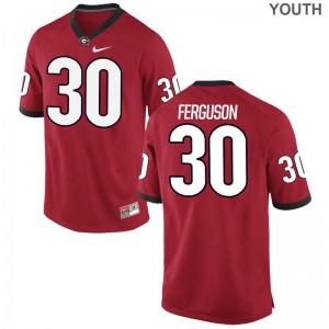 Ed Ferguson University of Georgia Jersey S-XL Red Youth Game