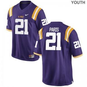 Limited Purple Ed Paris Jerseys S-XL Youth(Kids) LSU