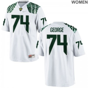 University of Oregon Elijah George Limited White For Women Player Jerseys