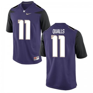 Elijah Qualls University of Washington For Men Purple Game Jersey