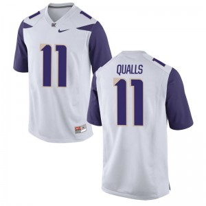 Elijah Qualls Washington Huskies Jersey White Limited Kids