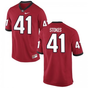 Eric Stokes Mens Jersey S-3XL Georgia Bulldogs Limited - Red