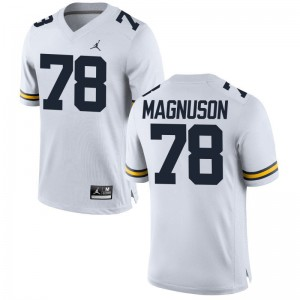 Erik Magnuson Wolverines Jersey Game Jordan White Ladies