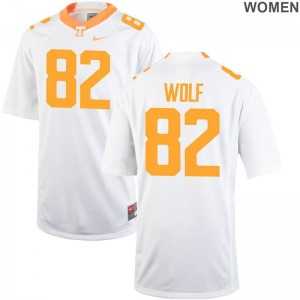 For Women Ethan Wolf Jersey S-2XL Vols White Game