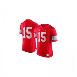 OSU Buckeyes Ezekiel Elliott NCAA Jersey Men Game Red Diamond Quest Patch Jersey