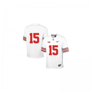 Ezekiel Elliott OSU Buckeyes Mens Jerseys White Diamond Quest Patch Football Game Jerseys