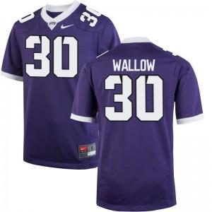 Game Garret Wallow Football Jersey TCU Horned Frogs Purple For Men