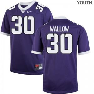 Horned Frogs Garret Wallow NCAA Jerseys Purple Limited Kids