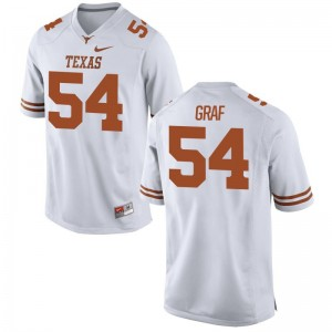 Limited University of Texas Garrett Graf Men Jerseys S-3XL - White