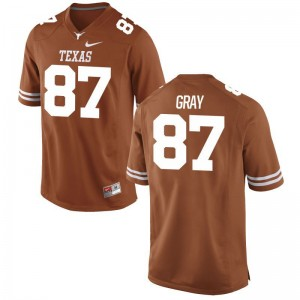 University of Texas Jersey of Garrett Gray Mens Orange Limited