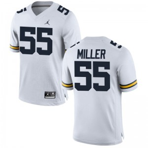 Garrett Miller Jerseys S-2XL Women Wolverines Jordan White Limited