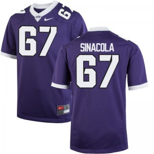 Geatano Sinacola Horned Frogs NCAA Jersey Youth Game Purple {Jersey