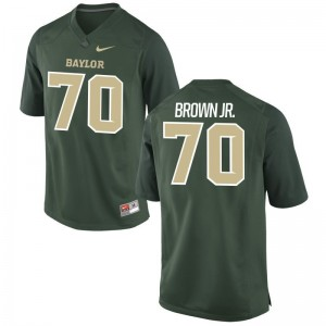 University of Miami George Brown Jr. Jersey Game Mens Green Jersey