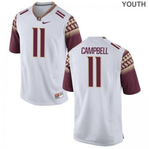 FSU Seminoles Limited Kids White George Campbell Jersey S-XL