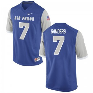 USAFA Geraud Sanders Jersey Royal Men Game