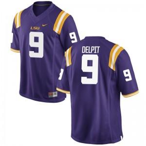 Grant Delpit Mens Jersey Purple Game Tigers