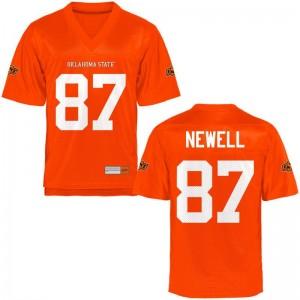 OK State Grant Newell Football Jerseys Orange Kids Limited