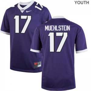 Texas Christian Grayson Muehlstein Jersey Player Kids Limited Purple Jersey