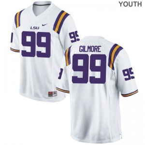 LSU Tigers Greg Gilmore Youth Limited NCAA Jersey White