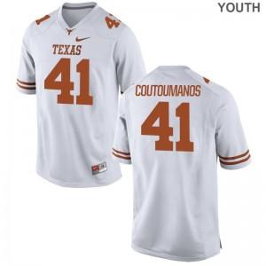 Hank Coutoumanos UT Kids Game White Jerseys