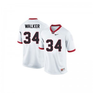 Georgia Herschel Walker White Womens Limited NCAA Jerseys