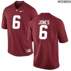 Hootie Jones Alabama Crimson Tide Jerseys For Women Red Game Jerseys