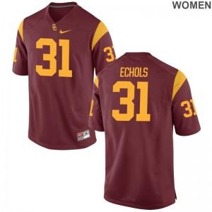 Hunter Echols Ladies College Jerseys Trojans Game - White