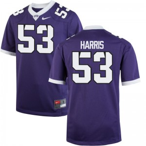 Game Purple Hunter Harris Jerseys Mens Texas Christian University
