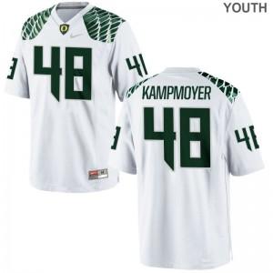 Hunter Kampmoyer Jersey Kids Oregon White Limited