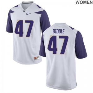 University of Washington Football Jerseys of Ian Biddle Womens Limited White