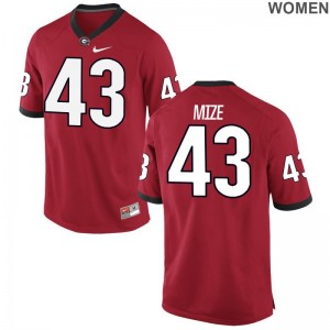 UGA For Women Limited Red Isaac Mize Alumni Jerseys