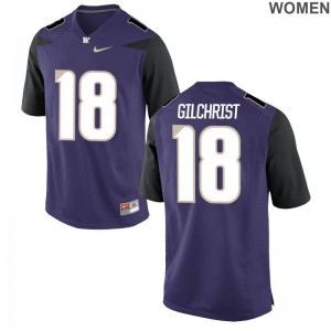 Limited UW Huskies Isaiah Gilchrist Ladies Purple Jersey