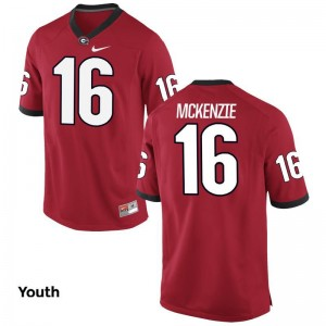 Red Limited Kids Georgia Bulldogs Football Jersey of Isaiah McKenzie