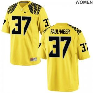 Ivan Faulhaber Jerseys Women University of Oregon Game - Gold