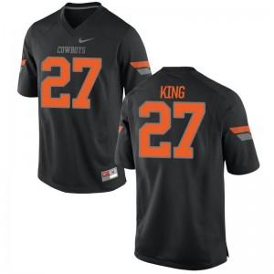 J.D. King Men Black Jerseys Game OK State