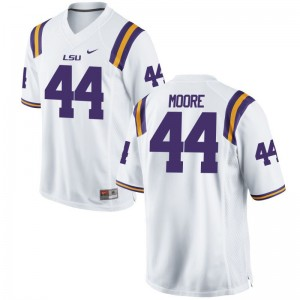 J.D. Moore LSU Jersey S-3XL White Mens Game