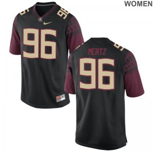 Womens Game Florida State Seminoles Football Jerseys JT Mertz - Black