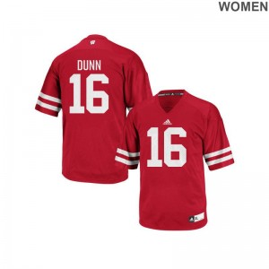 Red For Women Replica University of Wisconsin Alumni Jersey of Jack Dunn