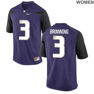 Jake Browning University of Washington For Women Jersey Purple Football Limited Jersey