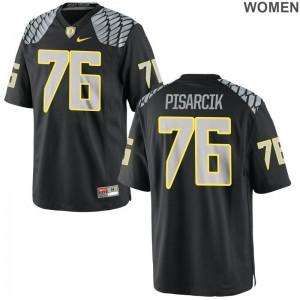 Jake Pisarcik Womens High School Jerseys Oregon Ducks Limited - Black